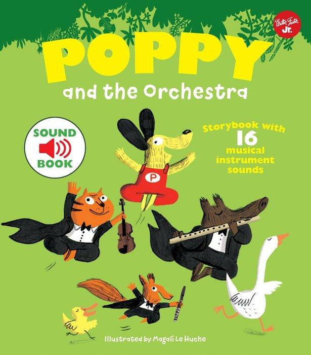 *小貝比的家*POPPY AND ORCHESTRA/精裝書/4-5歲中班/聲音書