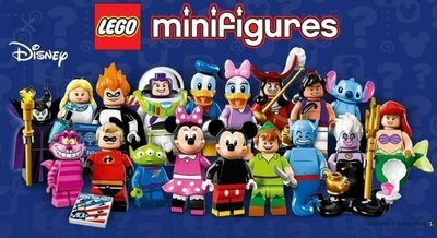 (N)開封對款一套18隻 Lego 71012 Disney Series 1 Mini figures 71040 71024 Minifigures 迪士尼