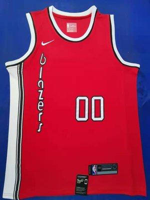 卡梅羅·安東尼(Carmelo Anthony)NBA波特蘭拓荒者隊 球衣 復古版 00號 紅色