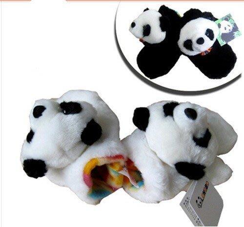 男女寶寶卡通可愛熊貓手套 兒童秋冬款動物保暖手套3-5歲小孩用品
