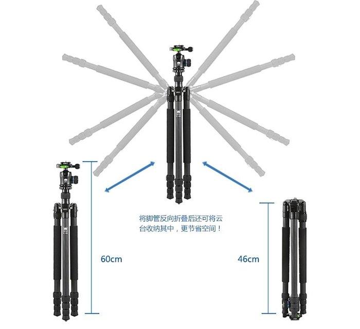 思銳 SIRUI N-1204X + K10X 碳纖維三腳架 附雲台 公司貨 180度反折腳架 低角度拍攝 微距拍攝