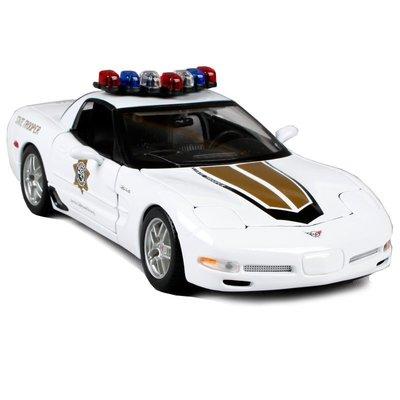 雪佛蘭 Chevrolet  Z06 警車 白色 FF4431383  1:18 合金車 模型 預購 阿米格Amigo