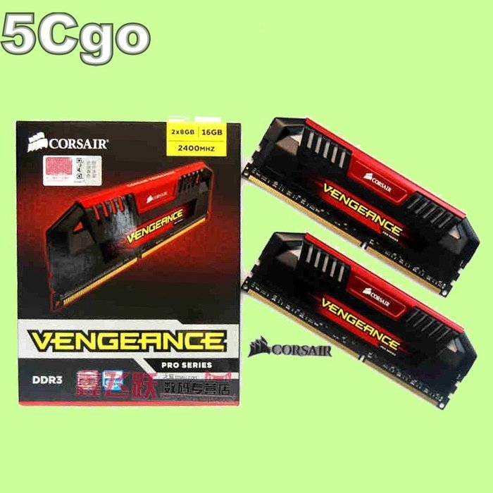 5Cgo【代購】全新正品海盜船復仇者加強版PRO DDR3 2400 四通道記憶體8G 8GB*2=16G 16GB含稅