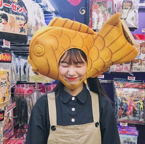 日系少女心搞怪可愛鯉魚頭套拍照寫真道具_☆優購好SoGood☆