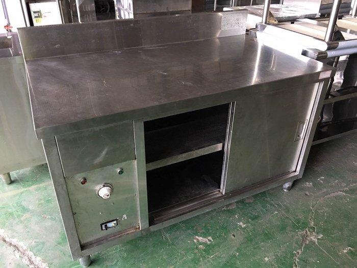 國際二手貨中心---餐廳結束營業---4.4尺烘碗盤工作台 保溫醬料台