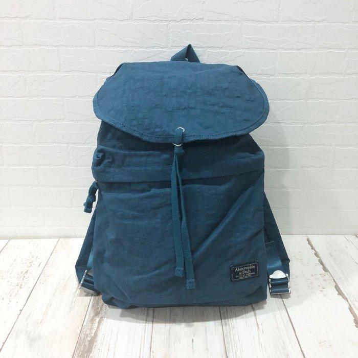 Maple麋鹿小舖 Abercrombie&Fitch * A&F 藍色尼龍布標後背包 * ( 現貨 )