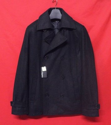 【全面特價】日本名牌SUGGESTION 頂級雙排扣紳士鋪綿窄版混羊毛短大衣