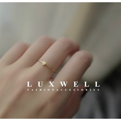【S925純銀】歐美C型愛心戒指 純銀戒指 可調 簡約 百搭 防敏 韓國戒指 熱賣 雜誌款 生日 禮物 情人節