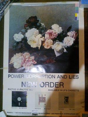 新秩序 New Order 權力腐敗與謊言Power, Corruption & Lies海報 80年代一張設計的經典