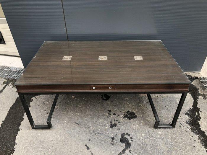 非凡二手家具全新庫存 胡桃工業風造型玻璃大茶几*和室桌*茶几桌*客廳桌*沙發桌*矮桌*泡茶桌*餐桌*造型桌*邊桌