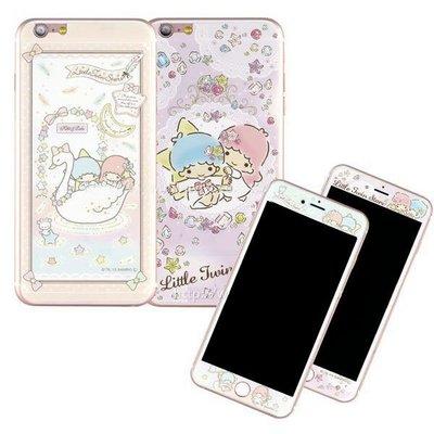 正版授權 雙子星 9H 滿版 正反面 彩繪玻璃螢幕貼 iPhone 6S 4.7吋 保護貼 保貼/三麗鷗/支援3D觸控