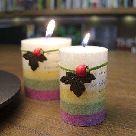 含稅!【夜晚暖心!】溫暖祝福 ~ 漸層香氛蠟燭【小柱燭款】【O0003】