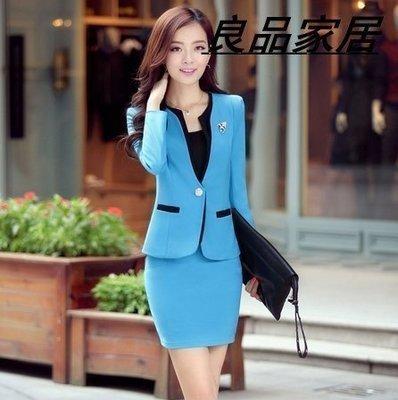 【優上精品】K0714-兩件套修身OL職業套裝女裝工裝女士正裝西裝(Z-P3172)