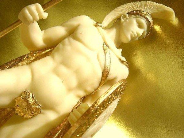 [ Vero 設計作品 希臘羅馬神話系列-愛力士 Ares Mars ]-馬爾斯-猛男戰神-雕像.