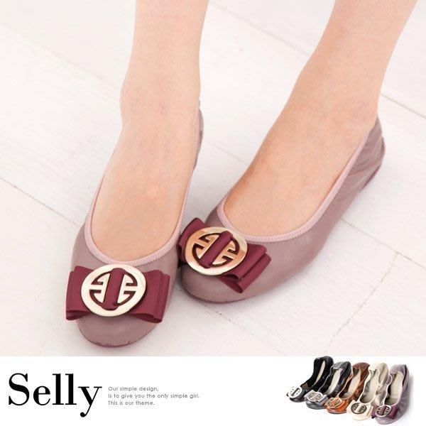 微甜半糖-柔軟彎折牛皮平底娃娃鞋-六色-Selly-沙粒-(03Q06)-特價980元