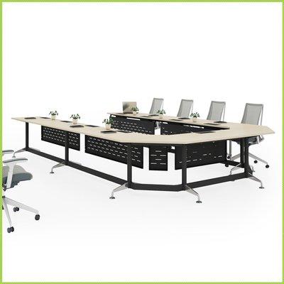 【OA批發工廠】Mike 麥克系統會議桌 洽談桌 美耐板桌 單開線槽盒 大型會議桌 簡約現代設計 客製品需先詢價