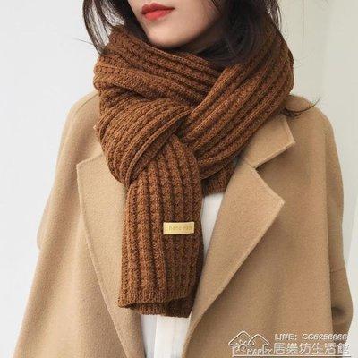 毛線圍巾女秋冬季韓版學生原宿百搭加厚長款保暖日系清新軟妹圍脖