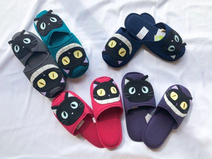 日本卡拉貓~惡魔貓純棉室內拖鞋L