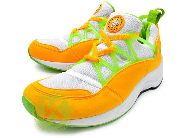 台灣未發售 NIKE AIR HUARACHE LIGHT 白黃綠 芒果黃 OG經典配色 慢跑鞋 306127-831