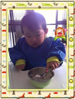 適合媽媽餵寶寶餐具~托兒所專用幼兒餐具單碗組(青色碗/圓洞白色上蓋/青色湯匙)