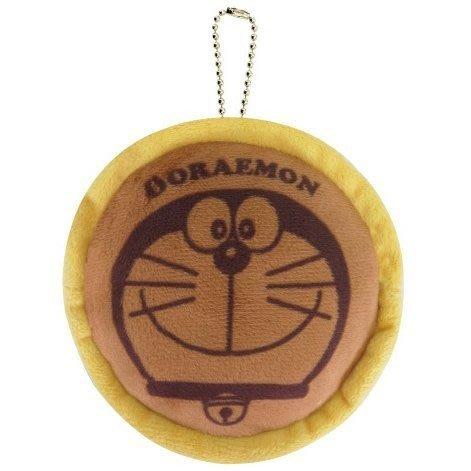 哆啦A夢Doraemon銅鑼燒造型絨布零錢包,長錢包/錢包袋/短夾/長夾/中夾/零錢包/皮夾,X射線【C039238】