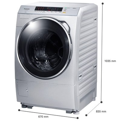 【興大】Panasonic國際牌 13公斤雙科技洗脫變頻滾筒 洗衣機NA-V130DW-L