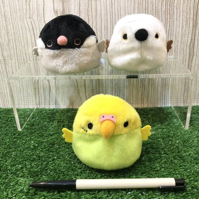 【誠誠小舖】日本進口 正版 動物 三英貿易 鳥糰子 鳥 虎皮鸚鵡 綠 櫻文鳥 銀喉長尾山雀 玩偶 手玉 沙包 娃娃