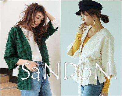 SaNDoN x『UNGRID』秋季官網主打款 立體毛球華麗感綁帶外套短版罩衫風衣 SLY 170817