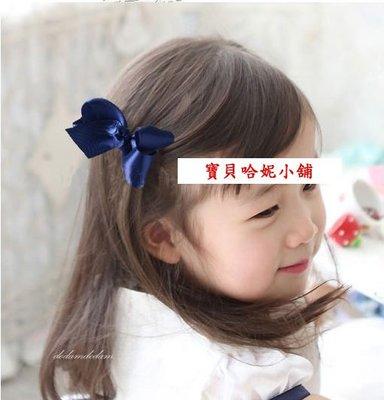 BHH031-韓劇童星愛用品牌POPKID 韓國漂亮平滑絲帶蝴蝶結髮夾【現貨】韓國製