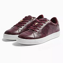 TOPSHOP CABO Burgundy Lace Up Trainers Shoes - Size 38