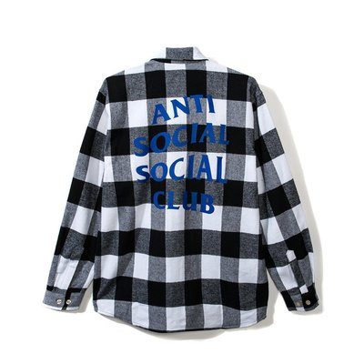 ☆LimeLight☆ Anti Social Social Club Flannel Shirt 法蘭絨襯衫 黑白