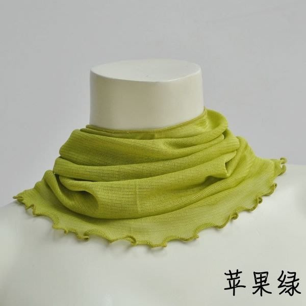 【絲絲入扣】新貨到日韓100%蠶絲針織網眼脖圍真絲針織圍脖(4件1000元)