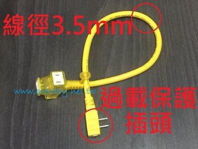 (永展) 動力軟線 延長線 3.5mm 過載 安全 新安規