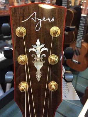 ☆金石樂器☆  Ayers 民謠 木吉他 全單板 手工 20周年紀念琴 附原廠硬CASE 非 Taylor Cort