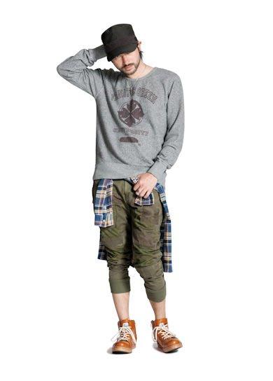 特價「NSS』GLAMB Unplugged cargo 破壞 休閒褲 工作褲 縮口褲 綠 S