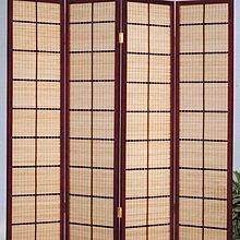 高級實木框竹簾日式屏風