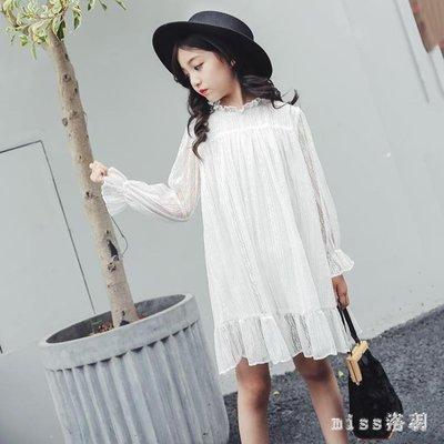 大尺碼女童長袖洋裝時尚新款童裝兒童韓版休閒裙子小女孩公主裙 js10065
