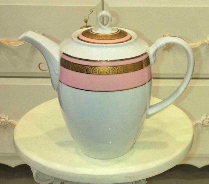齊洛瓦鄉村風粉紅金邊茶壺