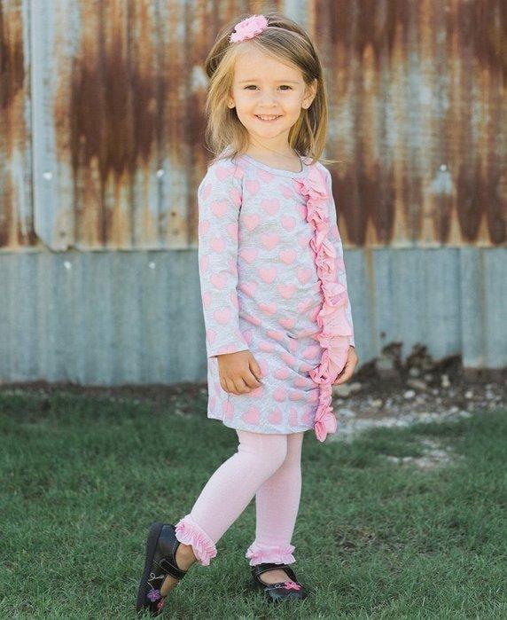 ❤Shopaholic❤美國RuffleButts 冬季暖暖女童褲襪 公主粉 現貨