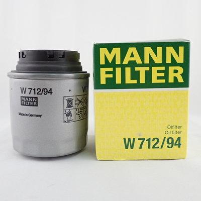 MANN 機油芯 W712/94 適用 SKODA 司可達 YETI RAPID FABIA 機油濾清器