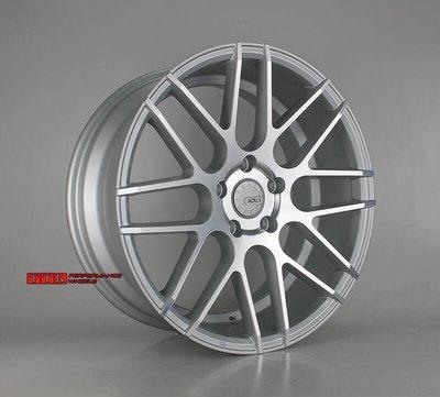 【台灣製造】KR1060 類ADV.1新款網狀鋁圈樣式 18吋 5孔112/120 8J / 9J 前後配 銀車面