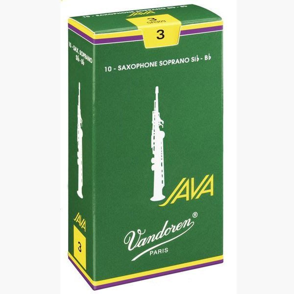 §唐川音樂§【Vandoren Java Green Soprano Reeds 薩克斯風 高音 Java 綠盒 竹片 10片裝】(法國)