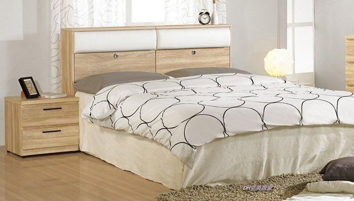 【DH】商品貨號N569-1品名稱《凱寧》橡木紋床組(床箱+床底)其它另計。台灣製。主要地區免運費