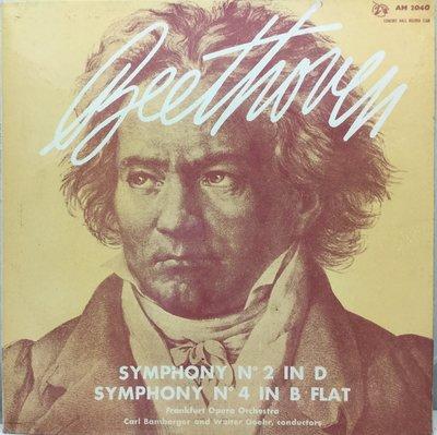 黑膠唱片 英版古典-Concert Hall/AM 2040/貝多芬:第 2 , 4 號交響曲/哥爾-法蘭克福歌劇樂團