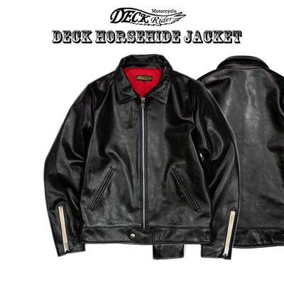 【TOP MAN】 Deck Rider  HORSEHIDE  經典重磅馬皮個性皮衣 191142106