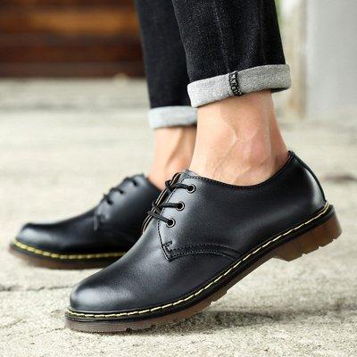 【時尚先生男裝】大碼男鞋大碼男鞋春夏男士大頭工裝鞋真皮休閑短靴子馬丁鞋 2005240380