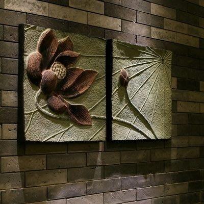 掛飾 壁掛 擺件-中式復古蓮花造型居家擺飾用品73a29[獨家進口][巴黎精品]