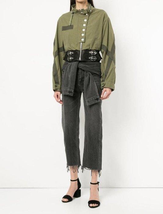 [我是寶琪] Alexander Wang綠色皮革腰帶夾克