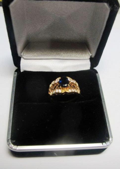 [一品軒促銷品]天然A貨 藍寶石1.5gp鑲鑽石戒指