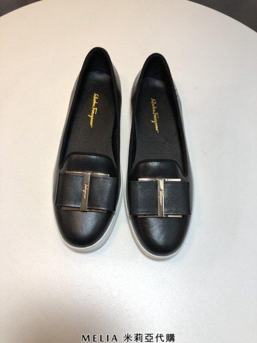 Melia 米莉亞代購 2018年 SALVATORE FERRAGAMO 菲拉格慕 平底鞋 懶人鞋 穿上顯腿長 黑色